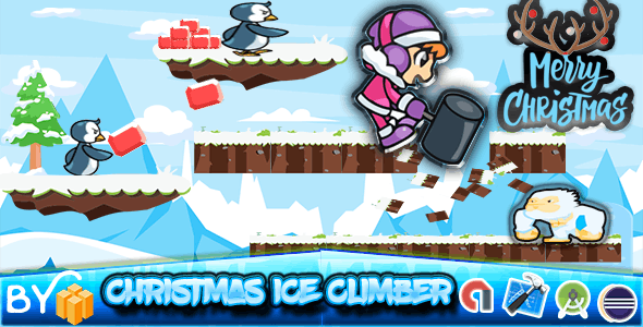 Christmas ice climber - Xcode Project New Game