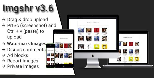 Imgshr v3.6 - Easy Snapshot, Image Upload & Sharing Script