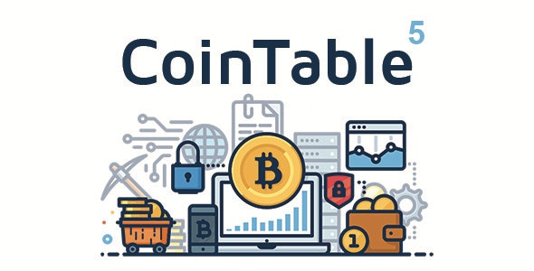 Coin Table - Cryptocurrency Markets, ICOs & Mining CMS by RunCoders