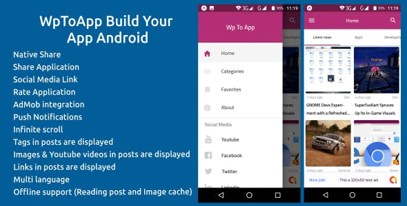 WpToApp | WordPress to Android News Application