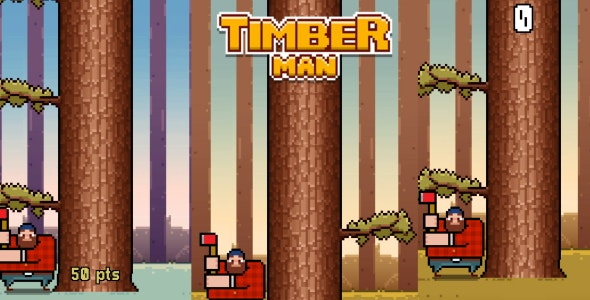 TimberMan Clone Unity (AdMob + Leaderboard) - CodeCanyon Item for Sale