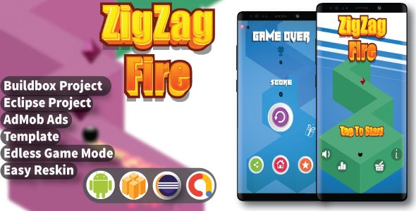 ZigZag Fire ( BuildBox Project + Admob + Bbdoc ) - CodeCanyon Item for Sale