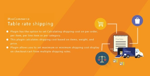 WordPress WooCommerce Table Rate Shipping