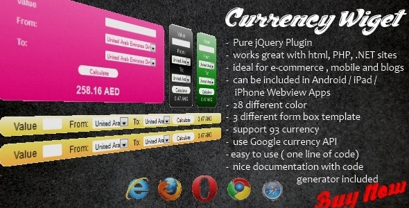 Currency Wiget - Nice Css - Work with Android - CodeCanyon Item for Sale