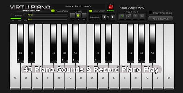 Virtu Piano - HTML5 Virtual Piano - CodeCanyon Item for Sale