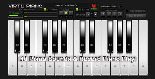 Virtu Piano - HTML5 Virtual Piano