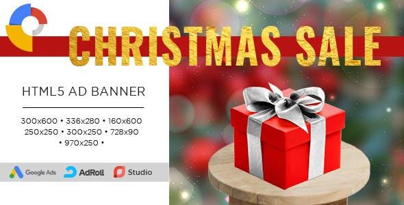 CHRISTMAS SALE - Banner Ad Templates – HTML5 Animated GWD