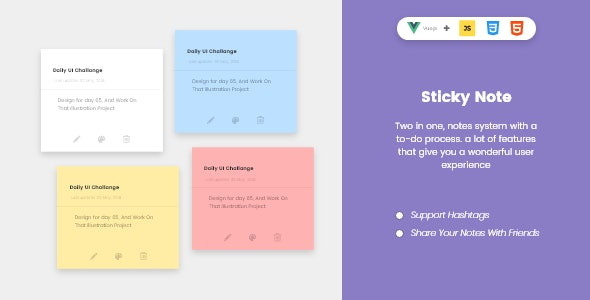 Sticky To-Do Notes by engtechno | CodeCanyon
