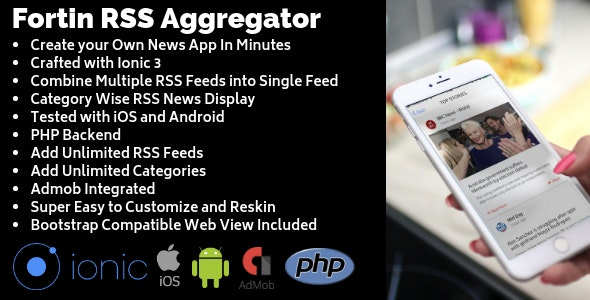 Fortin Multiple RSS Feeds Aggregator - CodeCanyon Item for Sale