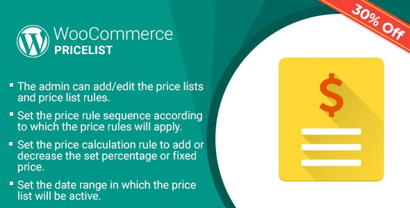 Shopping Cart Price Rule (Price list) Plugin for WooCommerce