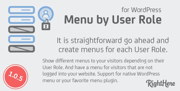 Menu by User Role for WordPress - CodeCanyon Item for Sale