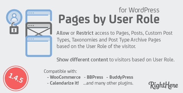 Pages by User Role for WordPress by RightHere | CodeCanyon