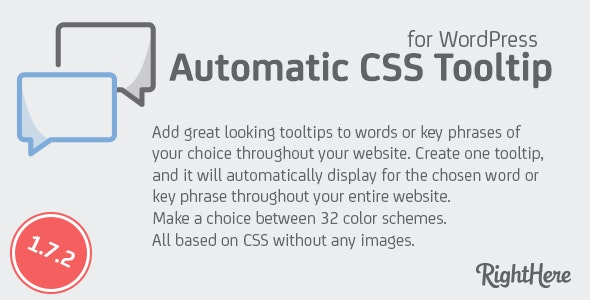 Automatic CSS Tooltip for WordPress by RightHere | CodeCanyon