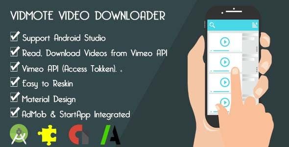 VidMote Video Downloader - AdMob & StartApp - GDPR