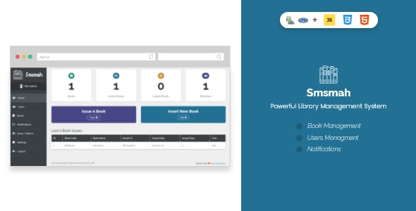 Smsmah - Powerful Library Management System - CodeCanyon Item for Sale