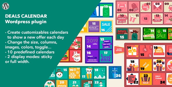 Deals Calendar - WordPress Plugin - CodeCanyon Item for Sale