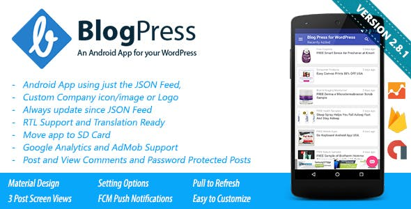 BlogPress - An Android App for your WordPress