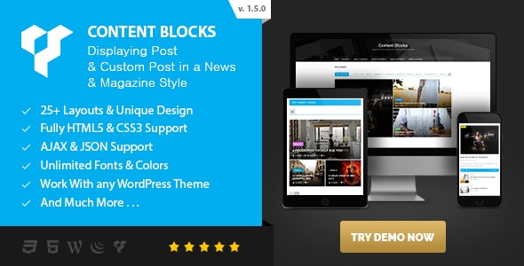 Content Blocks Layout For WPBakery Page Builder (Visual Composer) - News & Magazine Style - CodeCanyon Item for Sale