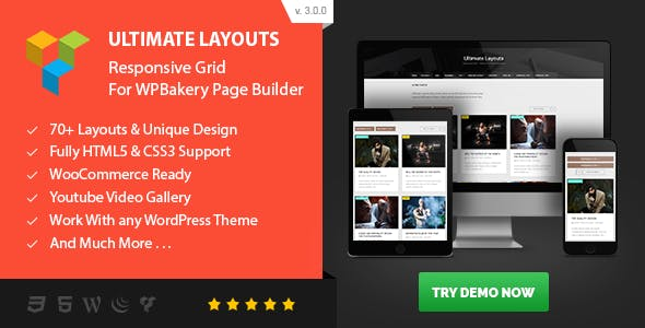 Ultimate Layouts - Responsive Grid & Youtube Video Gallery - Addon For WPBakery Page Builder        Nulled