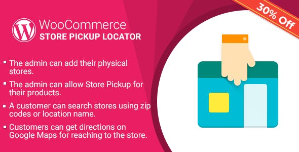 WordPress WooCommerce Store Pickup Locator Plugin