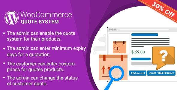 WordPress WooCommerce Quote System Plugin