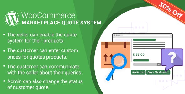 WordPress WooCommerce Marketplace Quote System Plugin