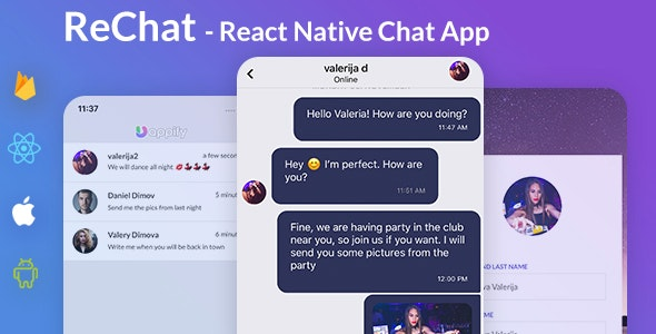 Chat App Template - React Native Expo - CodeCanyon Item for Sale