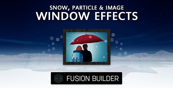 Fusion Builder Snow, Particle & Image Window Effects for Avada v5