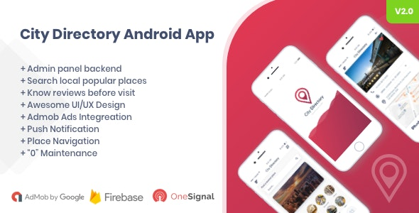 City Directory Android Native App with Admin Panel by