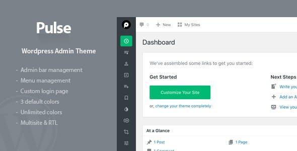 Pulse - WordPress Admin Theme