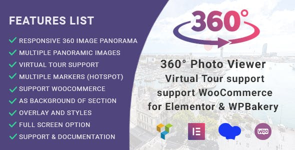 360° Photo Viewer (Virtual Tour) for Elementor and WPBakery Page Builder