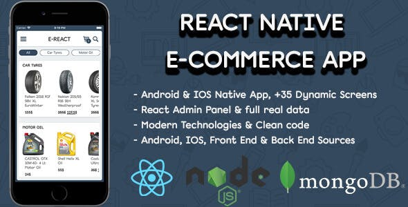 React Native E-Commerce App - CodeCanyon Item for Sale