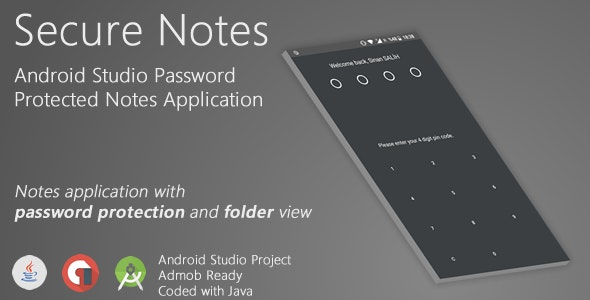 Notes - Password Protected Notes Application | Android Studio (FULL PROJECT) - CodeCanyon Item for Sale