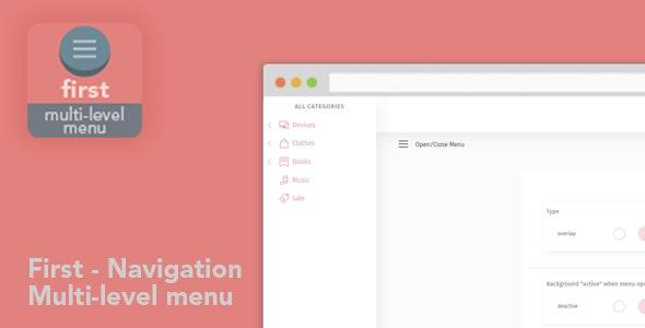 Menu First-Navigation Multi-level Menu - CodeCanyon Item for Sale