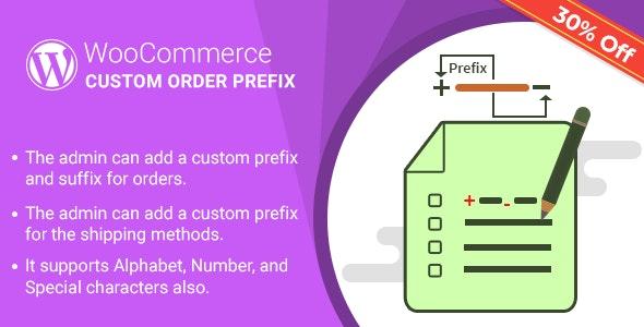 WordPress WooCommerce Custom Order Prefix Plugin - CodeCanyon Item for Sale