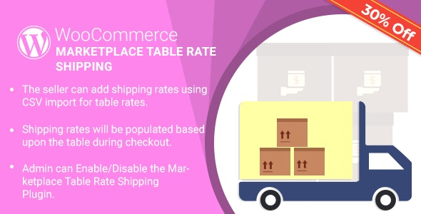Marketplace Table Rate Shipping Plugin for WooCommerce by webkul