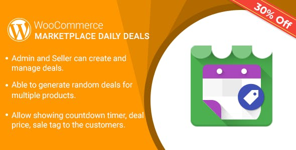 Multi Vendor Daily Deals Plugin for WooCommerce