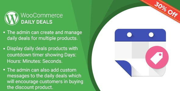 Daily Deals Plugin for WooCommerce - CodeCanyon Item for Sale