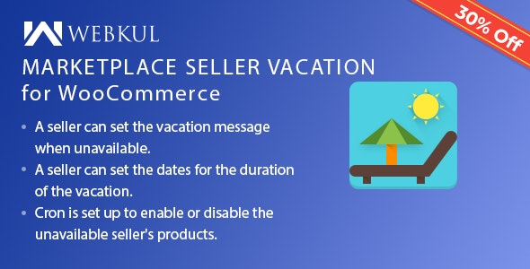 Multi Merchant Marketplace Vacation Plugin for WooCommerce - CodeCanyon Item for Sale