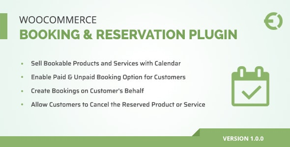 WooCommerce Booking & Reservation Plugin - CodeCanyon Item for Sale