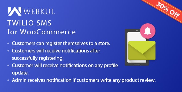 Twilio SMS Notification for WooCommerce by webkul | CodeCanyon