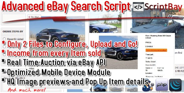 ScriptBay - Advanced Affiliate Ebay Script