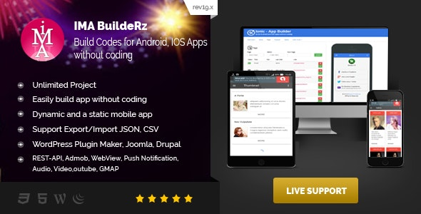 IMABuildeRz v1 - Universal AppBuilder for Cordova/Phonegap/Ionic v1 - CodeCanyon Item for Sale