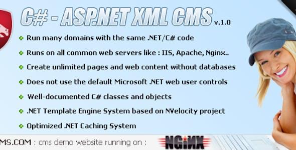 ASP.NET - C# XML Content Management System