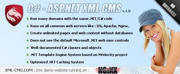 ASP.NET - C# XML Content Management System  - CodeCanyon Item for Sale