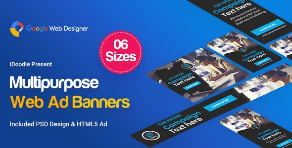 Multi Purpose Banners HTML5 D16 - GWD
