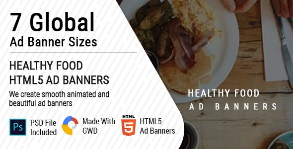 Healthy Food Google Ad Banners