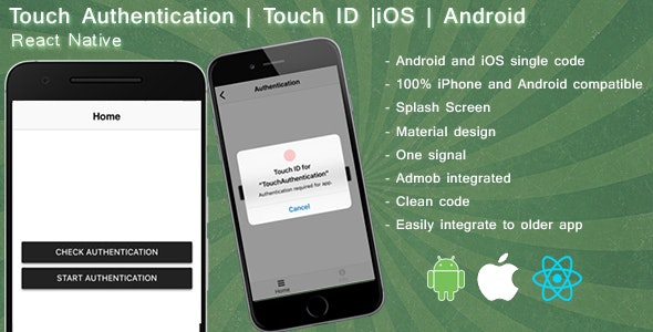 Touch Authentication React native - CodeCanyon Item for Sale