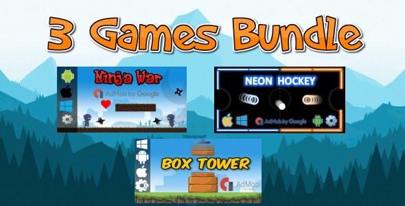 3 HTML5 Games Bundle (Construct 2 - CAPX)
