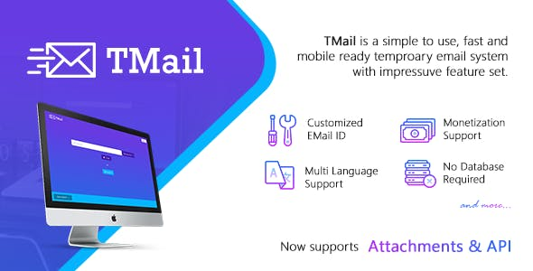 Tmail Disposable Email PHP Script from CodeCanyon